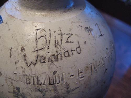 Blitz Weinhard C02 tank