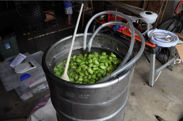 Pour in the hops